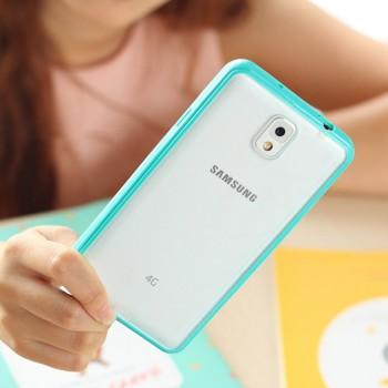 Силиконовый матовый полупрозрачный чехол с улучшенной защитой элементов корпуса (заглушки) для Samsung Galaxy Note 3