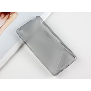 Силиконовый матовый непрозрачный чехол с дизайнерской текстурой S для Sony Xperia E5