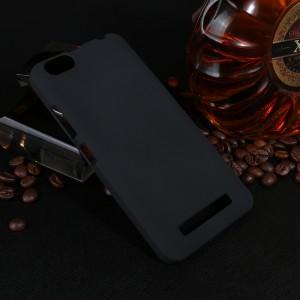 Пластиковый непрозрачный матовый чехол для Lenovo Vibe C  Черный