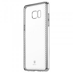 Силиконовый матовый полупрозрачный чехол с текстурным покрытием Узоры для Samsung Galaxy Note 7