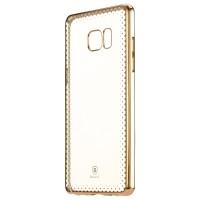 Силиконовый матовый полупрозрачный чехол с текстурным покрытием Узоры для Samsung Galaxy Note 7  Бежевый