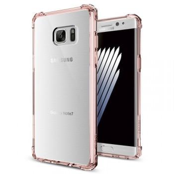 Силиконовый матовый полупрозрачный дизайнерский фигурный противоударный чехол для Samsung Galaxy Note 7