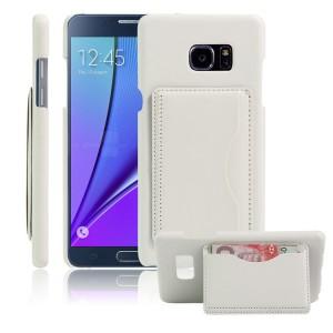 Чехол накладка текстурная отделка Кожа с отсеком для карт и функцией подставки для Samsung Galaxy Note 7