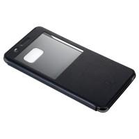 Чехол горизонтальная книжка на пластиковой основе с окном вызова для Samsung Galaxy Note 7  Черный