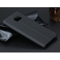 Чехол накладка текстурная отделка Кожа для Samsung Galaxy Note 7  Черный