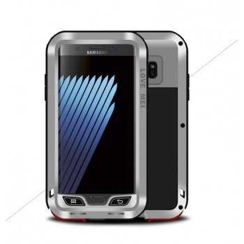 Цельнометаллический противоударный чехол из авиационного алюминия на винтах с мягкой внутренней защитной прослойкой для гаджета с прямым доступом к разъемам для Samsung Galaxy Note 7