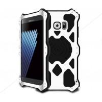 Эксклюзивный многомодульный ультрапротекторный пылевлагозащищенный ударостойкий нескользящий чехол алюминиево-цинковый сплав/силиконовый полимер для Samsung Galaxy Note 7  Белый