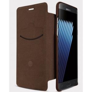 Чехол горизонтальная книжка на пластиковой основе с отсеком для карт для Samsung Galaxy Note 7