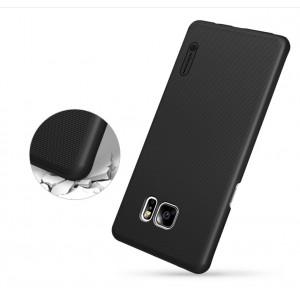 Пластиковый непрозрачный матовый нескользящий премиум чехол для Samsung Galaxy Note 7