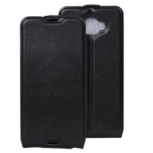 Чехол вертикальная книжка на силиконовой основе с отсеком для карт на магнитной защелке для Alcatel Idol 4S Черный