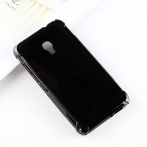 Силиконовый матовый полупрозрачный чехол с усиленными углами для Alcatel Pixi 4 (5) 4G 5045d 5045x Черный