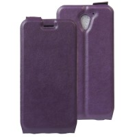 Чехол вертикальная книжка на силиконовой основе с отсеком для карт на магнитной защелке для ZTE Blade A510 Фиолетовый
