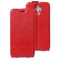 Винтажный чехол вертикальная книжка на силиконовой основе с отсеком для карт на магнитной защелке для Wileyfox Swift  Красный