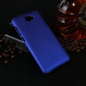 Пластиковый непрозрачный матовый чехол для Huawei Honor 5A/Y5 II Синий