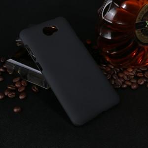 Пластиковый непрозрачный матовый чехол для Huawei Honor 5A/Y5 II Черный