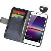 Винтажный чехол портмоне подставка на пластиковой основе на магнитной защелке для Huawei Honor 5A/Y5 II Фиолетовый