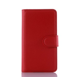Чехол портмоне подставка на силиконовой основе на магнитной защелке для Lenovo A1000 Красный