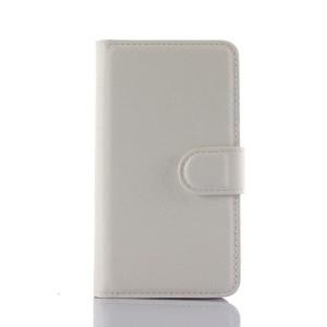 Чехол портмоне подставка на силиконовой основе на магнитной защелке для Lenovo A1000 Белый