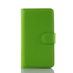 Чехол портмоне подставка на силиконовой основе на магнитной защелке для Lenovo A1000 Зеленый