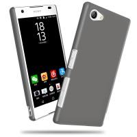 Пластиковый непрозрачный матовый чехол для Sony Xperia Z5 Compact  Серый