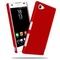 Пластиковый непрозрачный матовый чехол для Sony Xperia Z5 Compact Красный