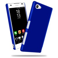 Пластиковый непрозрачный матовый чехол для Sony Xperia Z5 Compact Синий