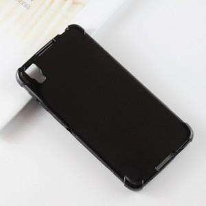 Силиконовый глянцевый полупрозрачный дизайнерский фигурный чехол с усиленными углами для Alcatel Idol 4/BlackBerry DTEK50