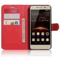 Чехол портмоне подставка на силиконовой основе на магнитной защелке для Acer Liquid Z630  Красный