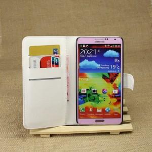 Чехол портмоне подставка на магнитной защелке для Samsung Galaxy Note 3 Белый