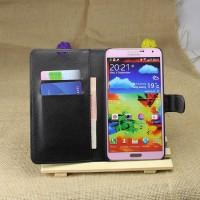 Чехол портмоне подставка на пластиковой основе на магнитной защелке для Samsung Galaxy Note 3  Черный