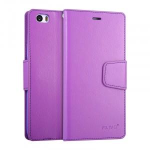 Чехол портмоне подставка на силиконовой основе на магнитной защелке для Xiaomi MI5 Фиолетовый