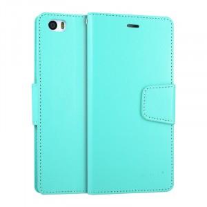 Чехол портмоне подставка на силиконовой основе на магнитной защелке для Xiaomi MI5 Голубой