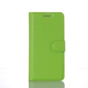 Чехол портмоне подставка на пластиковой основе на магнитной защелке для Xiaomi MI5 Зеленый