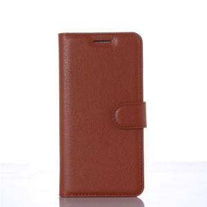 Чехол портмоне подставка на пластиковой основе на магнитной защелке для Xiaomi MI5 Коричневый