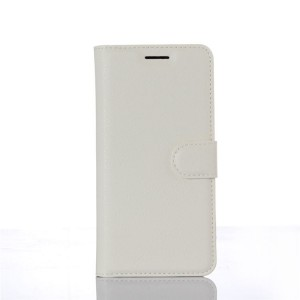 Чехол портмоне подставка на пластиковой основе на магнитной защелке для Xiaomi MI5 Белый