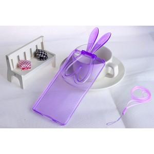 Силиконовый матовый полупрозрачный дизайнерский фигурный чехол для Xiaomi MI5  Фиолетовый