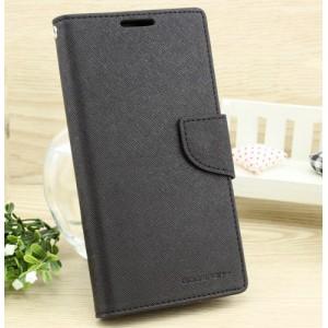 Чехол портмоне подставка на силиконовой основе с тканевым покрытием на дизайнерской магнитной защелке для LG X cam