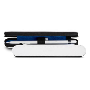 Кожаный жесткий футляр (нат. кожа) для Apple Pencil на молнии Белый