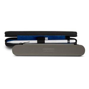 Кожаный жесткий футляр (нат. кожа) для Apple Pencil на молнии Серый