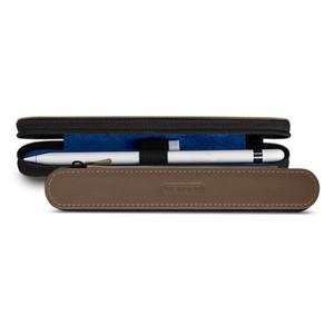 Кожаный жесткий футляр (нат. кожа) для Apple Pencil на молнии Коричневый