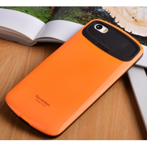 Силиконовый глянцевый непрозрачный чехол для Xiaomi MI5  Оранжевый