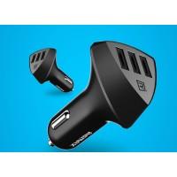 Автомобильное зарядное устройство на 3 USB разъема 5В 4.2А