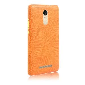 Чехол накладка текстурная отделка Кожа для Xiaomi RedMi Note 3  Оранжевый
