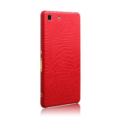 Чехол накладка текстурная отделка Кожа для Sony Xperia M5