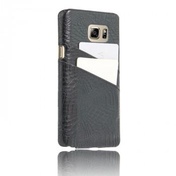 Чехол накладка текстурная отделка Кожа с отсеком для карт для Samsung Galaxy Note 5