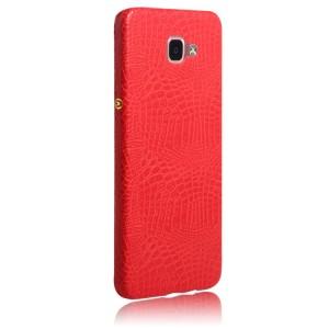 Чехол накладка текстурная отделка Кожа для Samsung Galaxy A9  Красный