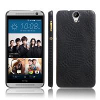 Чехол накладка текстурная отделка Кожа для HTC One E9+  Черный