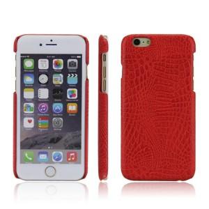 Чехол накладка текстурная отделка Кожа для Iphone 6/6s  Красный