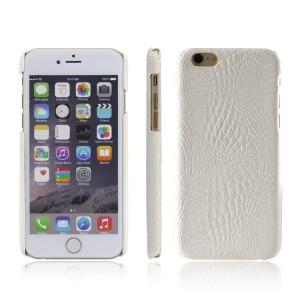 Чехол накладка текстурная отделка Кожа для Iphone 6/6s  Белый
