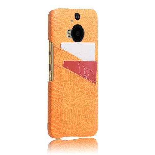 Чехол накладка текстурная отделка Кожа с отсеком для карт для HTC One M9+